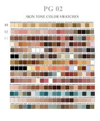 Pantone Skin Tone Chart Skin Tone Swatches By Ovalbrush Deviantart Com On