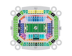 Miami Dolphins Hard Rock Stadium Seating Chart 75 Unusual Miami Dolphins Stadium Virtual Seating Chart