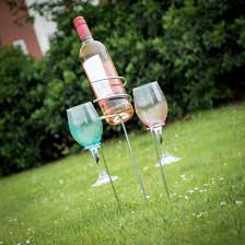 outdoor wine bottle and glass holder keep your beverages safe menkind