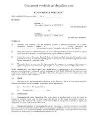 land co ownership agreement legal forms and business templates picture of land co ownership agreement
