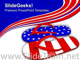 Red White And Blue Powerpoint Templates Red White And Blue Flip Flop Sandals Powerpoint Template Powerpoint