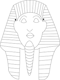 Sphinks Mask Printable Coloring Page For