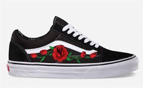 Vans Old Skool Size Chart Rose Buds Custom Embroidered Vans Old Skool Skate Shoe New