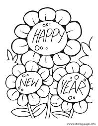 Small Picture Flower Wishing Happy New year printable 2017 Coloring pages Printable