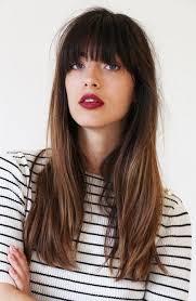long hair with bangs hairstyles