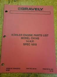 kohler ch14s engine parts manual image is loading kohler ch14s engine parts manual