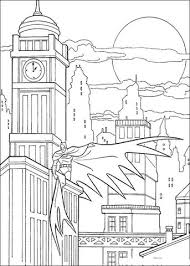 Small Picture Batman in Gotham city coloring page Free Printable Coloring Pages
