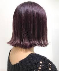 バイオレット系ヘアカラー髪色16選紫アッシュブラウンピンク暗め