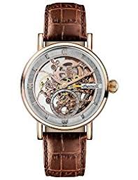 amazon co uk ingersoll watches ingersoll men s the herald automatic watch skeleton dial and brown leather strap i00401
