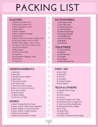 International Travel Packing Checklist Packing For Europe In Spring Fashion Blogger Erin Busbee
