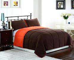 comforter orange set queen chocolate and burnt throughout brown