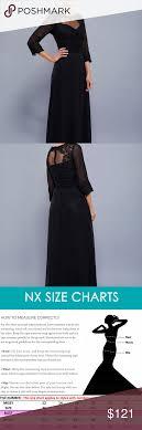 Nox Anabel Size Chart Illusion Neck Long Sleeves Dress 5101 Illusion Neckline Long