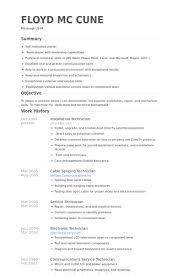 Installation Technician Resume Samples Visualcv Resume Samples