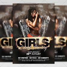 Girls Club Party Club A5 Template