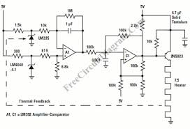temperature controller for crystal oven (lm4040)_circuit diagram world Oven Control Schematic temperature controller for crystal oven circuit schematic oven control circuit