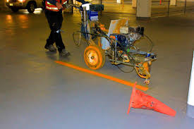 thermoplastic road line painting equipment view