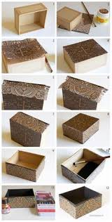 Decorating Cardboard Boxes How to decorate a cardboard box with napkin technique www 7