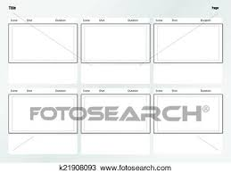 Clipart Of Professional Of Film Storyboard Template K21908093