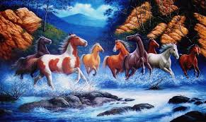 horse painting you can lead a horse to water but if you can get him