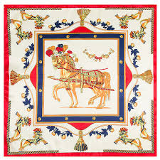 100 silk scarf horse scarf foulard neckerchief top silk bandana small square lady gift horse riding scarf por design