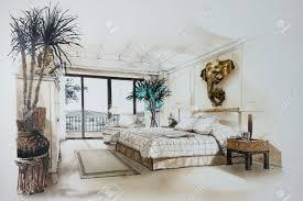 Bedroom Sketch Creative Design Interior