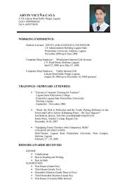 How To Make A Resume For College Resume Format Examples For Job Cv Format For Job Application Pdf 91