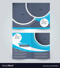2 folded brochure template two page fold brochure template design royalty free vector