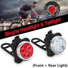 2Pcs Front And Rear <b>Bicycle Light</b> Waterproof <b>USB Bike Headlight</b> ...