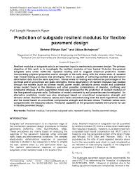Design Cbr Of Subgrade For Flexible Pavements Pdf Prediction Of Subgrade Resilient Modulus For Flexible