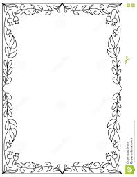 Decorative Square A4 Format Coloring Page Frame Isolated On White ...