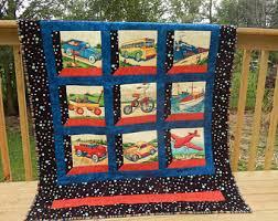 Transportation quilt | Etsy & Old-Style Transportation Toddler Quilt Adamdwight.com