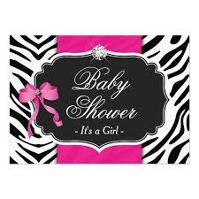ReachingHyer Pink Zebra Baby Shower InvitesPink Zebra Baby Shower Invitations