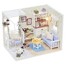 Cheap diy wood dollhouse miniature Buy Quality house room