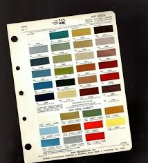 1959 Buick Color Chip Paint Sample Chart Brochure 7 99