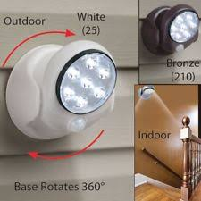 cordless indoor outdoor motion sensor led light. outdoor garden patio 7 led motion sensor cordless wireless security wall light indoor led a