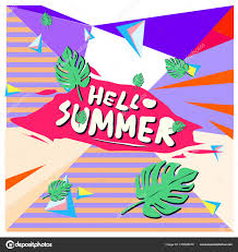 ベクトル カラフルな夏のバナーです 夏祭りのイラスト熱帯背景