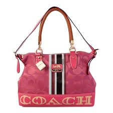 Coach Braided In Signature Large Pink Totes BFT