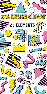 Graphic Design Clipart 90s Design Clipart Retro 90s Graphic Design Element Icons