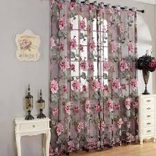 purple curtains for bedroom. purple floral tulle curtains for living room bedroom kitchen modern window curtain translucidus home textile blinds r