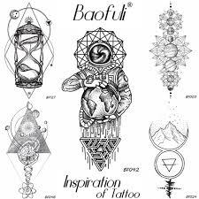 3084 руб 5 скидкаbaofuli геометрическая алмаз временная мужская татуировка