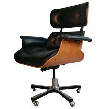 Office Chair Leather Modernist Eames Style Leather Desk Chair At 1stdibs