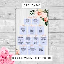Editable Seating Chart Wedding Instant Download Editable Pdf Print Yourself Floral Border Themed Seating Chart Wedding Memorable Creations Inc