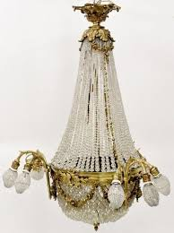 french empire gilt bronze basket chandelier by ahlers ogletree bidsquare