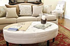 round upholstered coffee table tufted coffee table oval upholstered ottoman coffee table diy