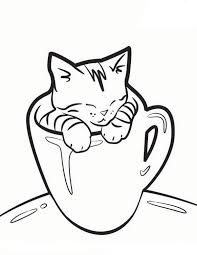 Small Picture Cat Coloring Page Printable Japanese Cats Coloring Page Bird
