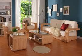 Living Room Wooden Sofa Set