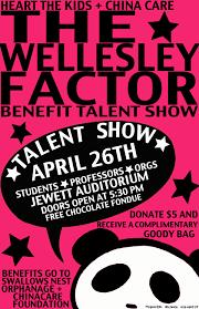 Talent Show Poster Designs Alexandria Lee The Wellesley Factor Benefit Talent Show Posters