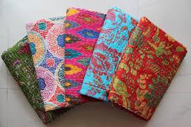 5 Twin Kantha Quilts Throw Gudari Ralli Handmade Cotton Blankets ... & 5 Twin Kantha Quilts Throw Gudari Ralli Handmade Cotton Blankets Wholesale  Lot | eBay Adamdwight.com