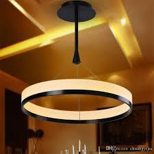25w modern simple design mini pendant led ring light chandelier pertaining to lights plan 18