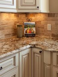 Kitchen Counter And Backsplash Ideas Gorgeous Traditional Tuscan Kitchen Makeover Future Home Pinterest